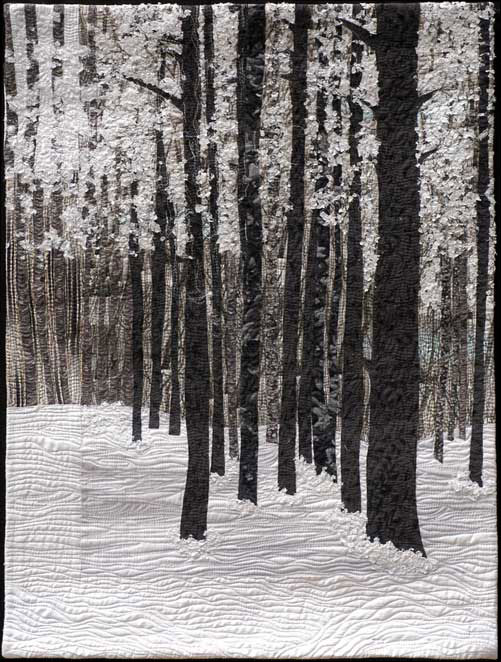 Black and White Trees Quilt